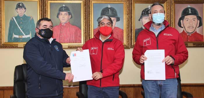 Convenio Dirección de Arquitectura- Bomberos Temuco permitirá facilitar la construcción de cuarteles